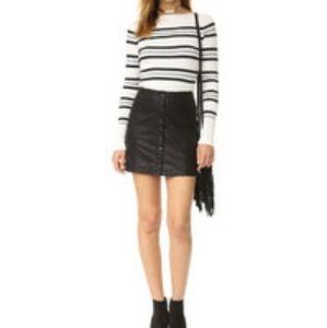 Free people vegan leather mini skirt sz 0 C2